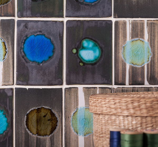 creative wall tiles from smoke and fire